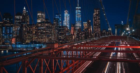 NEW YORK SUNSET SKYLINE SHOT GLASS SHOTGLASS